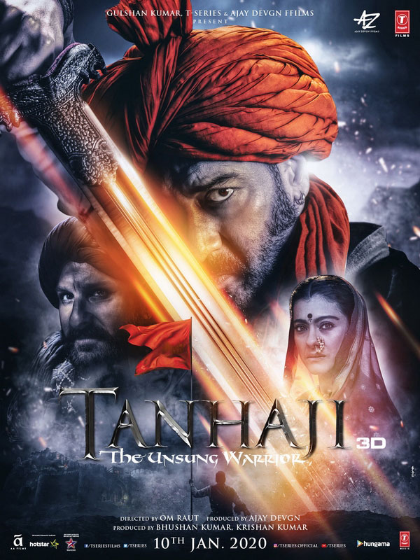 2020 blockbuster Tanhaji tells the story of a military chieftain in the Maratha army of King Shivaji, who commands the army alongside his younger brother.