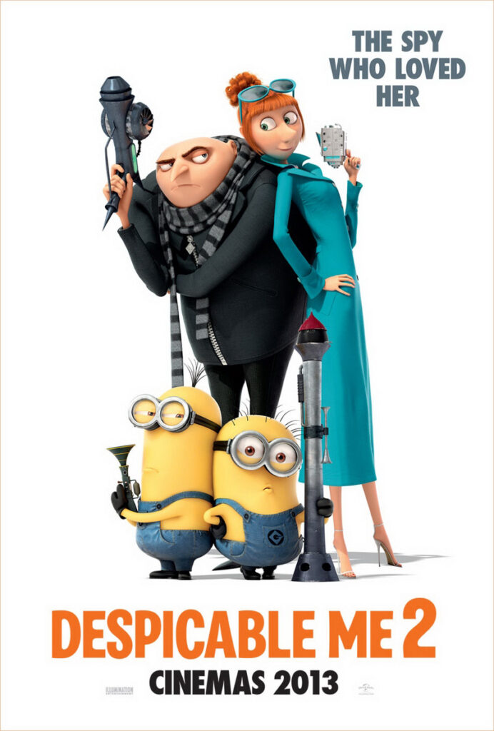 Despicable Me 2 of 2013 is a computer-animated comedy film set by Illumination Entertainment and distribution carried out by Universal Pictures.