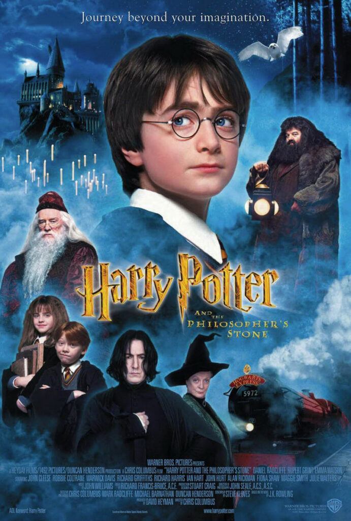 The story features Harry Potter's early years at Hogwarts School of Witchcraft and Wizardly when he uncovers his famous wizard and starts schooling.
