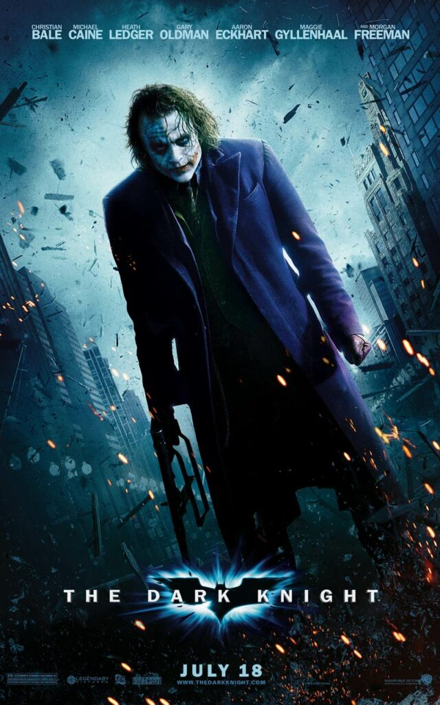 The Dark Knight is a superhero film of 2008, co-written, directed, and produced by Christopher Nolan. It is inspired by DC Comics character Batman.